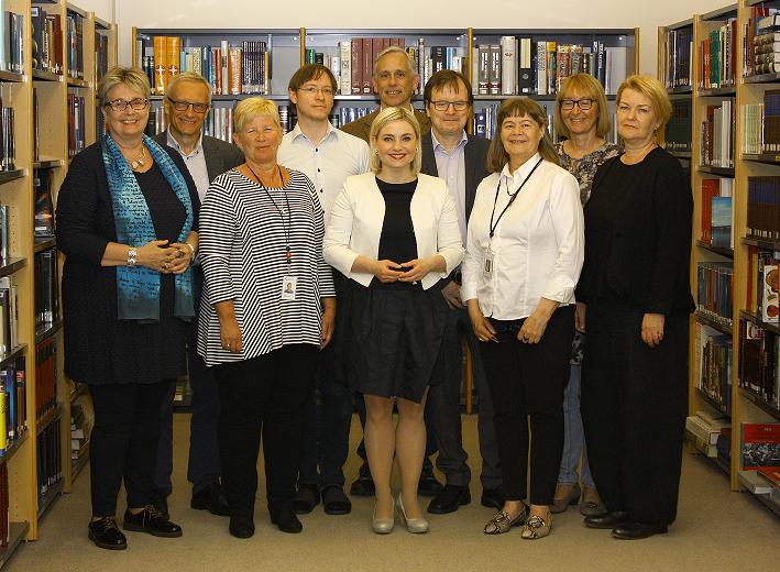 Minister of Education, Science and Culture, visits Þjóðarbókhlaða