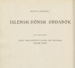 Icelandic-Danish dictionary