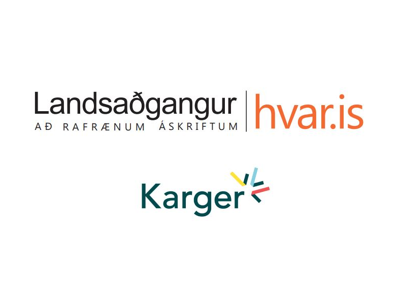 Iceland Consortium and Karger Publisher have signed Open Access Agreeement