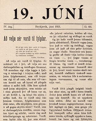 Tímaritið 19. júní