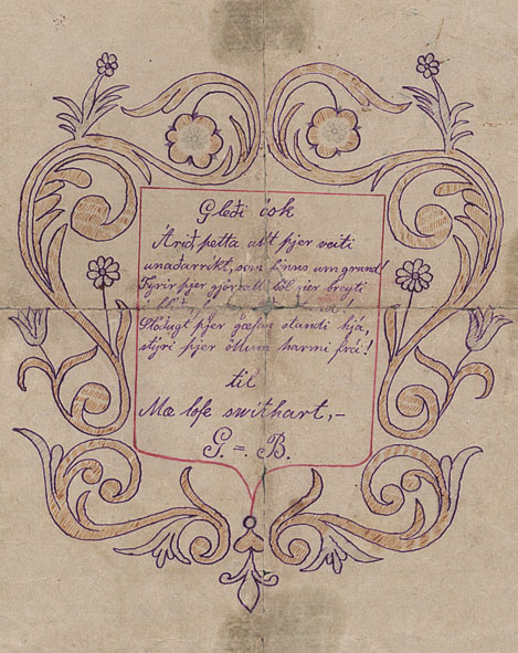 A love letter from the 19th century (Lbs. 1000 fol.).