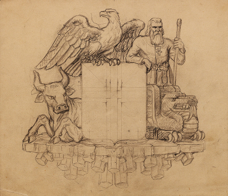 Tryggvi Magnússon and the coat of arms (finished)